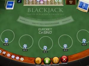 il blackjack di Eurobet