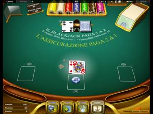 il blackjack di Starvegas