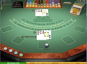 il blackjack di Voglia di Vincere